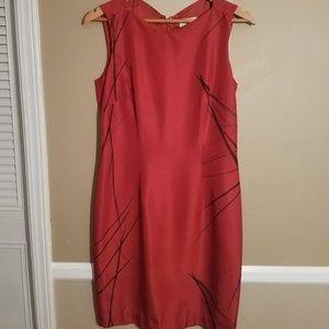 Liz Claiborne 100% silk rustic red dress size 4